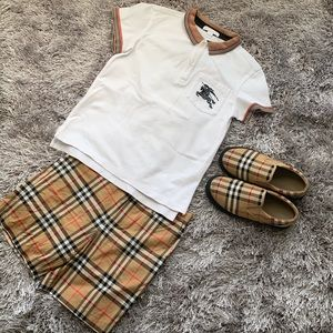 Little Boys Burberry Outfit w/ Shoes